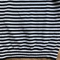 Calvin Klein Cowl Neck Cowl Striped Horizontal Top Black Image 7