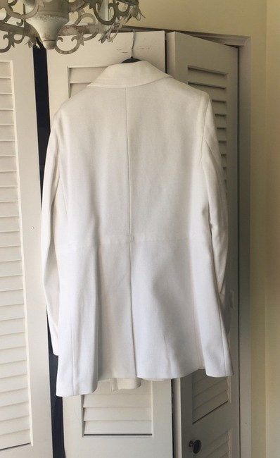 Banana Republic Pique Double Breasted Lined White Jacket Image 2