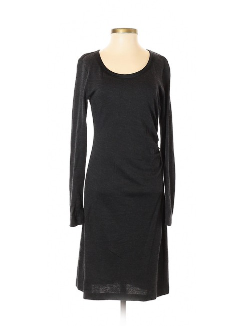 Preload https://img-static.tradesy.com/item/25412532/ann-taylor-charcoal-gray-ruched-knit-sweater-short-casual-dress-size-2-xs-0-0-650-650.jpg