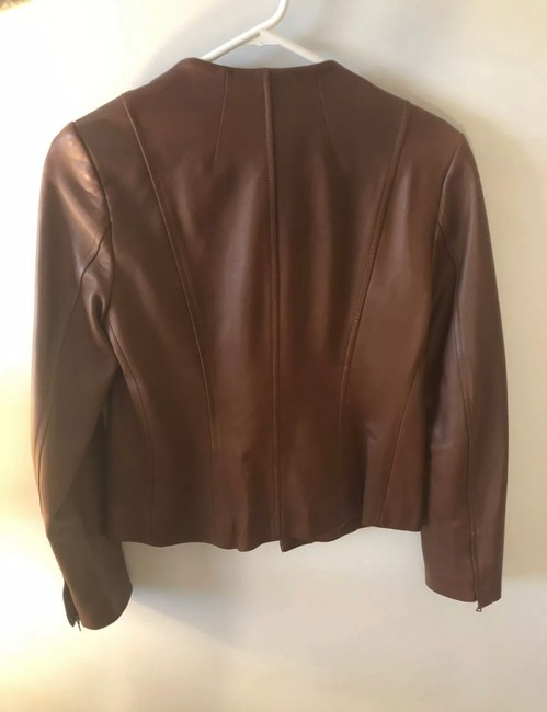 Theory brown Leather Jacket Image 1