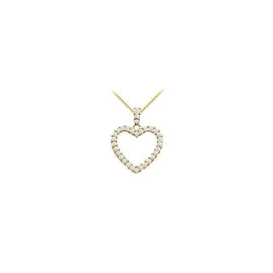 Preload https://img-static.tradesy.com/item/25412553/white-14k-yellow-gold-floating-heart-cubic-zirconia-pendant-125-ct-necklace-0-0-540-540.jpg