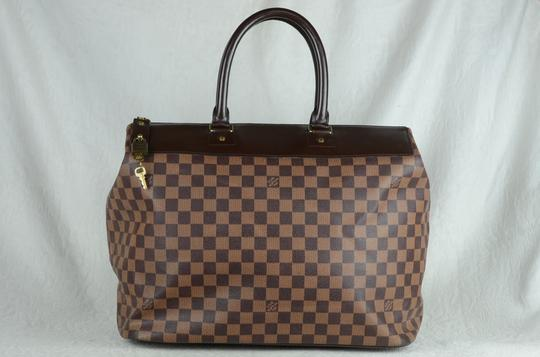 Louis Vuitton Toile Greenwich Pm Tote in Brown Image 8