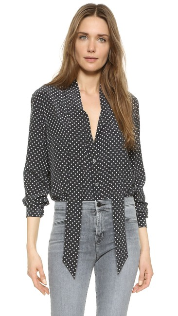 Equipment Tory Burch Rachel Comey Emerson Fry Rachel Zoe Tibi Button Down Shirt Black Image 4