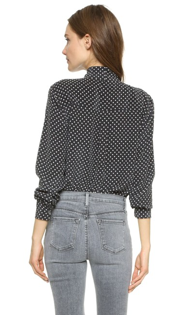 Equipment Tory Burch Rachel Comey Emerson Fry Rachel Zoe Tibi Button Down Shirt Black Image 6
