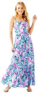 Peacock Blue Tweethearts Maxi Dress by Lilly Pulitzer