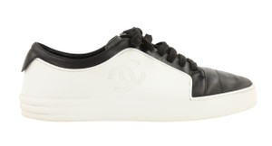 Chanel Calfskin Leather Rubber White Athletic