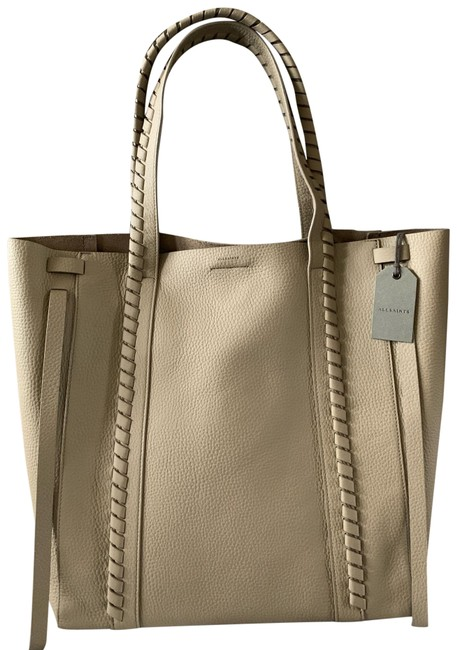 Item - New with Tags Attached North South Tote Taupe Gray Pebbled Leather Hobo Bag