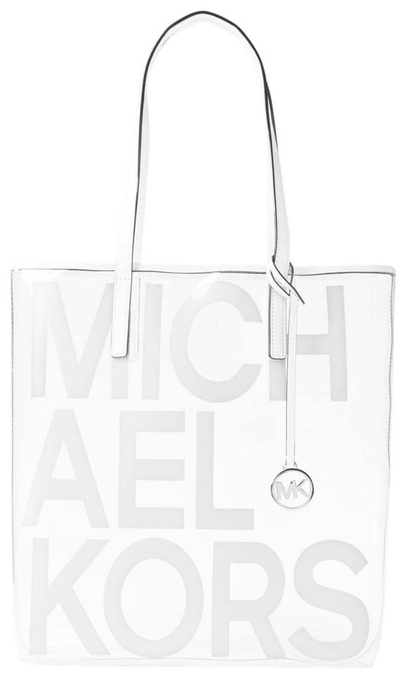 4892b15860 Michael Kors Plastic/Thermo 31s8s01t3p Tote in Optic White Image 0 ...