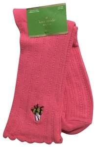 Kate Spade Bumble Bee Embroidered Cable Knit Crew Socks