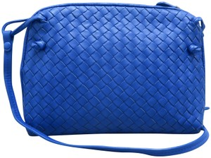 Bottega Veneta Intrecciato Lambskin Cross Body Bag