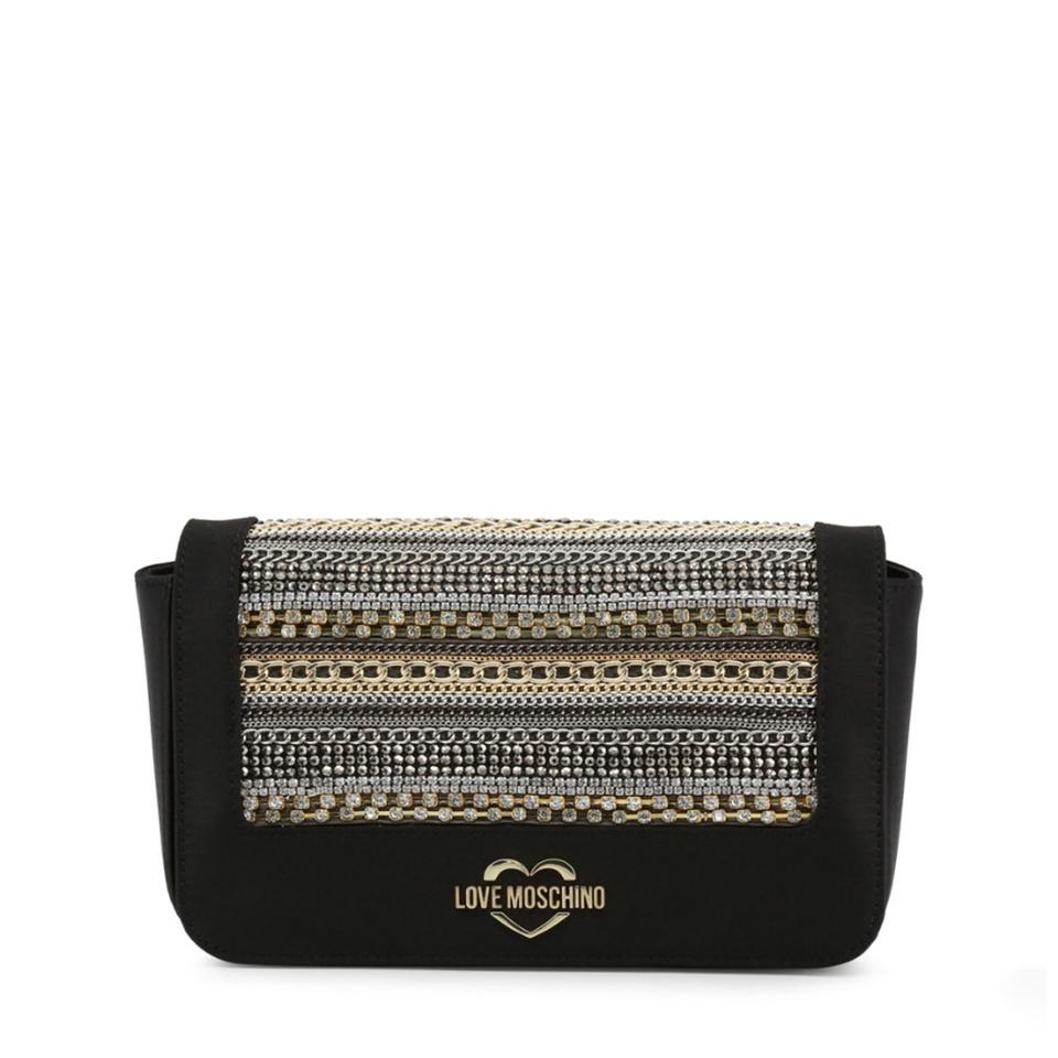 5245653f6d5 Love Moschino Black Faux Leather Clutch - Tradesy