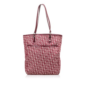 Dior 9ddrto004 Vintage Blend Leather Tote in Red