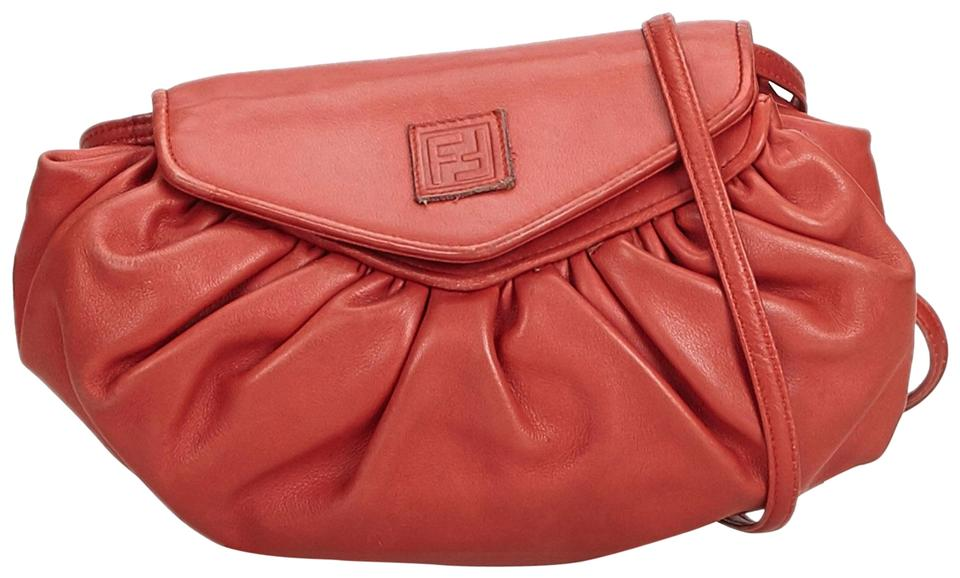 de93c0d22d Fendi Italy Small Red Leather Cross Body Bag 64% off retail