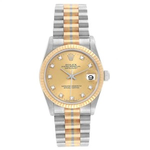 Rolex Rolex President 31mm Tridor White Rose Yellow Gold Diamond Watch 68279