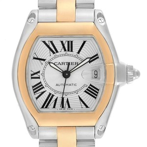 Cartier Cartier Roadster Yellow Gold Steel Automatic Mens Watch W62031Y4