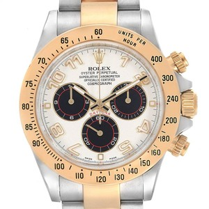 Rolex Rolex Daytona Panda Dial Steel Yellow Gold Chronograph Mens Watch 1165