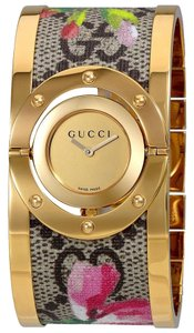 Gucci Twirl Stainless Steel Blooms Bangle Bracelet YA112443