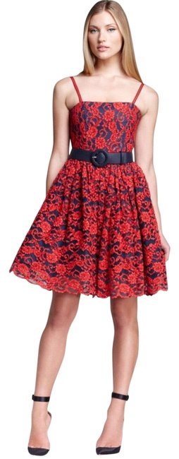 Alice + Olivia Red Black Nwt. Night Out Dress Size 2 (XS) Alice + Olivia Red Black Nwt. Night Out Dress Size 2 (XS) Image 1