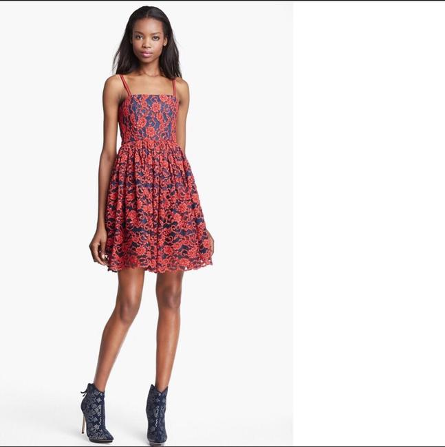 Alice + Olivia Red Black Nwt. Night Out Dress Size 2 (XS) Alice + Olivia Red Black Nwt. Night Out Dress Size 2 (XS) Image 4