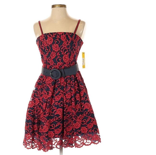 Alice + Olivia Red Black Nwt. Night Out Dress Size 2 (XS) Alice + Olivia Red Black Nwt. Night Out Dress Size 2 (XS) Image 6
