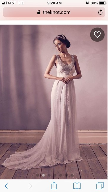 "Item - Ivory Silk ""amity"" Vintage Wedding Dress Size 2 (XS)"
