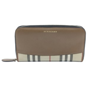 Burberry Horseferry Check Leather Canvas Wallet