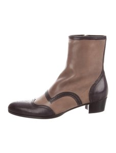 Miu Miu Pointed Ankle Taupe Boots