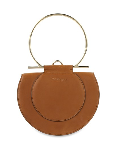 Preload https://item3.tradesy.com/images/salvatore-ferragamo-round-shaped-giancini-handle-brown-leather-shoulder-bag-25414997-0-0.jpg?width=440&height=440