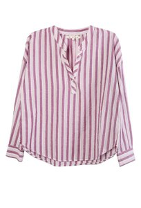Xirena Striped Spring Preppy Classic Casual Top Pink Slip