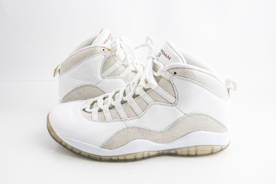 online retailer bd696 17029 Nike White Air Jordan 10 Retro Ovo Shoes