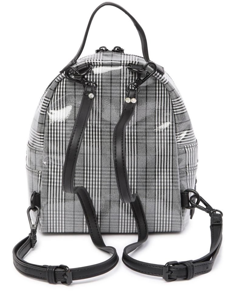 ffb48187fa4 Steve Madden Women's Plaid Mini Gray Faux Leather Backpack - Tradesy