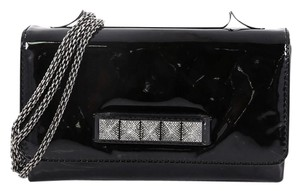 Valentino Patent Medium black Clutch