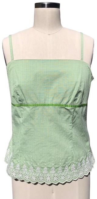 Item - Green With Embroidery Tank Top/Cami Size 10 (M)