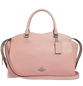 Coach Satchel in Blossom/Silver
