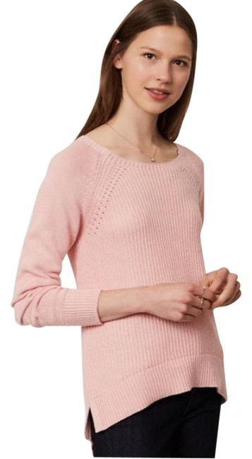 Item - Ribbed Pointelle New Pink Jade Sweater