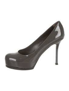 Saint Laurent Ysl Tribute Tribtoo Platform GRAY Pumps