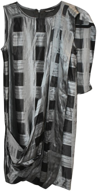 Item - Black and Grey Tendence Short Night Out Dress Size 2 (XS)