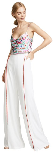 Item - White Red Chan Chan Trimmed Pants Size 8 (M, 29, 30)