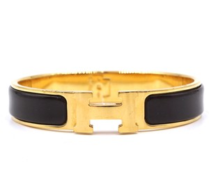 Hermès enamel H clic clac PM gold hardware Bangle bracelet cuff