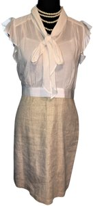 ef3ca440a4c2 Ann Taylor LOFT Career Ruffle Sleeves Neck Tie Blouse & Skirt Combo Dress