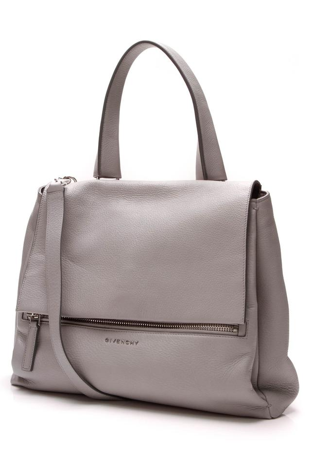 a3e96f0708 Givenchy Pandora Pure Medium - Pearl Gray Leather Satchel - Tradesy