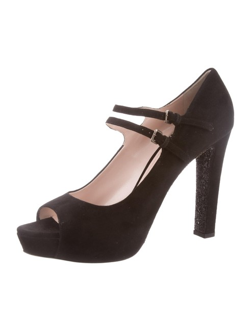 Item - Bouganville W Peep-toe Suede Pumps W/ Tags Wedges Size EU 40.5 (Approx. US 10.5) Regular (M, B)