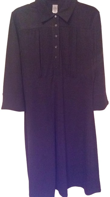 Item - Gray Comfort Fit Mid-length Work/Office Dress Size 12 (L)