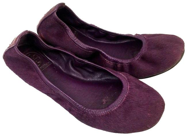Item - Purple Eddie Calf Hair Pony Ballet Ballerina Flats Size US 7 Regular (M, B)