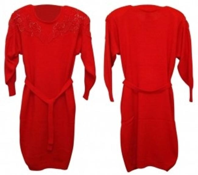 Preload https://item3.tradesy.com/images/belldini-red-4916-acrylic-beaded-sweater-above-knee-night-out-dress-size-8-m-25417-0-0.jpg?width=400&height=650