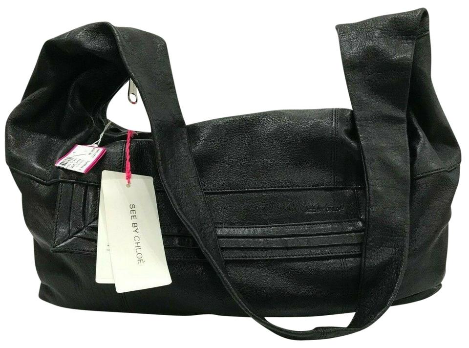 79ff89f09 See by Chloé Paneled Large Multi-color Black Leather Hobo Bag - Tradesy