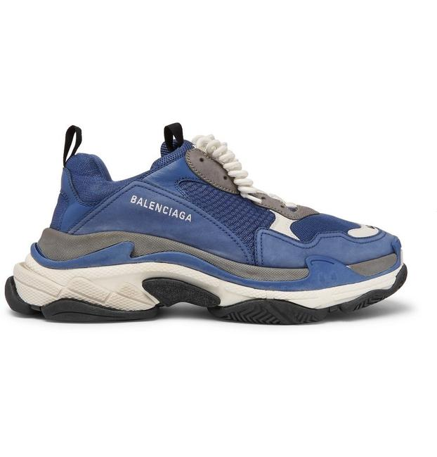 Item - Blue Triple S Sports Cool & Grey Shades Sneakers Size US 10 Wide (C, D)