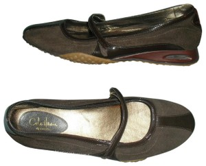 Cole Haan Nike Leather Mary Jane Brown Flats