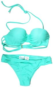 California Waves Mint Green Into The Deep Strappy Underwire Top With Strappy Hipster Bi