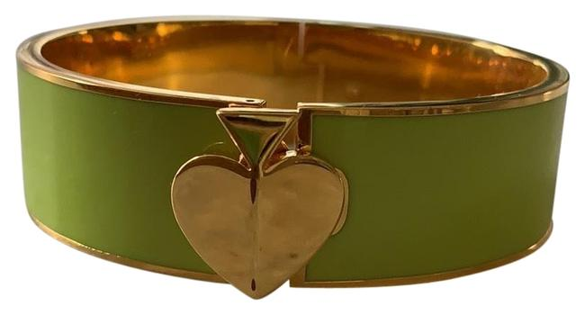Item - Lime Green and Gold Bracelet